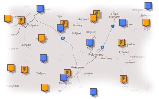 Map of Waterberg Accommodation